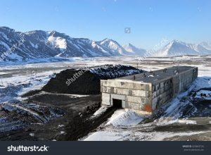 Coal warehouse in Chukotka