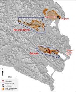 Bering Coal basin map