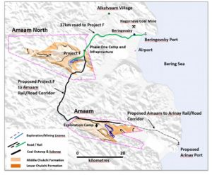 Map of project sites in Amaam